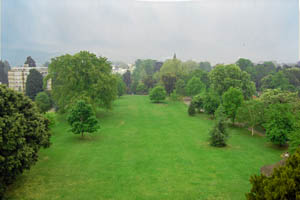 View of Pittville Park taken from the roof of the pump room
