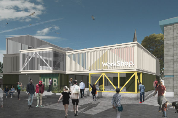 artists impression of proposed innovation hub
