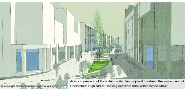 Visualisation of how the high street could look