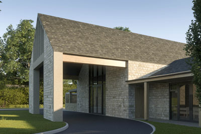 Artist impressions of new crematorium