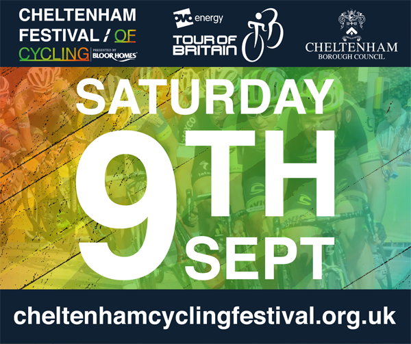 Cheltenham festival of cycling banner
