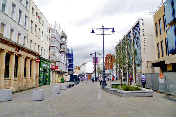 Cheltenham High Street after improvements