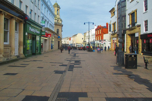Cheltenham High Street before improvements