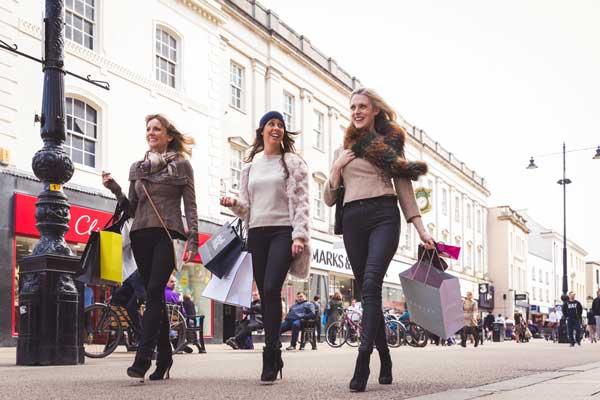 High Street shoopers - credit still moving media