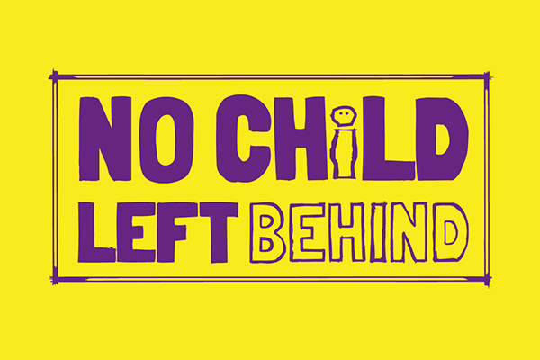 No child left behind campaign logo