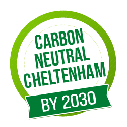 Carbon neutral Cheltenham logo