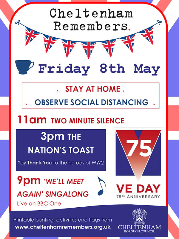 VE day 2020 poster