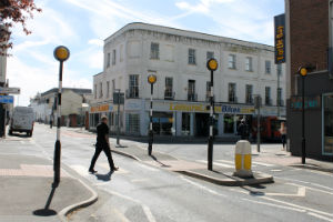 Albion Street after Cheltenham Transport Plan plhase one implementation