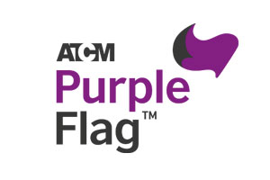 Purple flag award logo