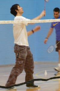 Badminton players at Cheltenham's leisure centre