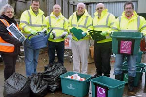 Bag splitting at Swindon Road recycling centre