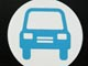 blue and white car icon