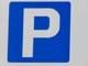 parking logo - white P on  blue background