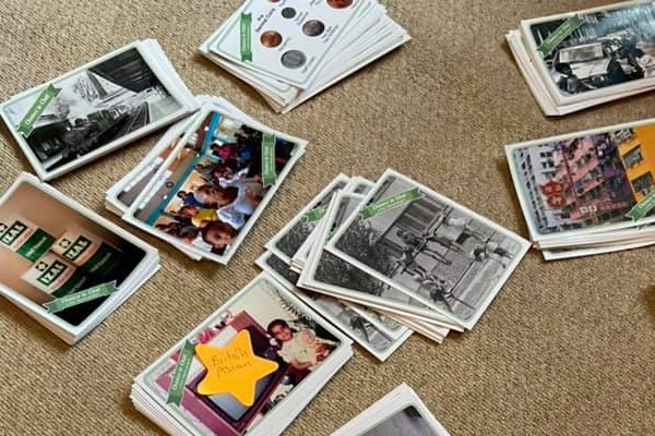 Piles of magazines and photographs