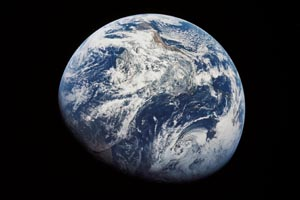 Photograph of the earth taken from Apollo 8