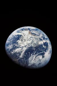 Photograph of Earth taken from the Apollo 8 spacecraft