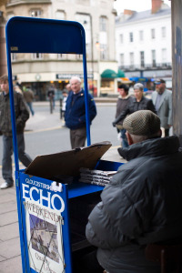 echo newspaper stand