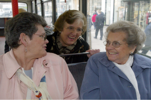 ladies on the bus