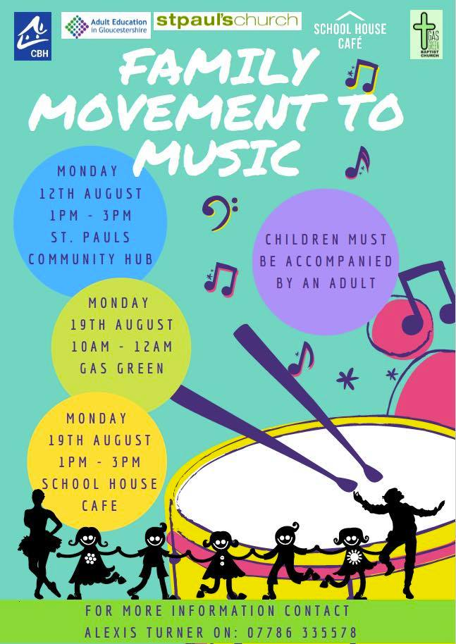 Family movement to music for August NCLB