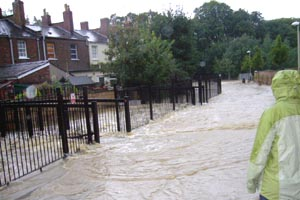 Flooding by the Bayshill in 2007