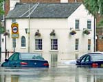 Cars stranded in floods in 2007
