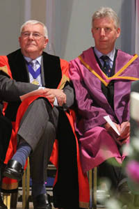 Honorary Alderman and former mayor, Brian Chaplin, and Freeman of the Borough, Edward Gillespie