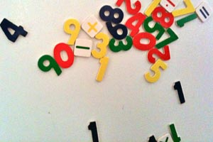 numbered fridge magnets