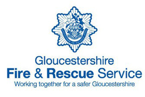 Logo for the Gloucestershire fire and rescue service