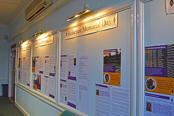 Part of the 2020 Holocaust Memorial Day exhibition on display at the Municipal Offices