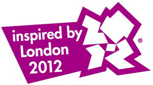 inspired by London 2012 logo - purple on white