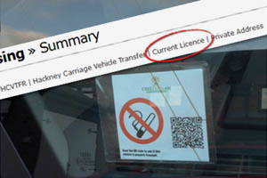 No smoking sticker in a vehicle window which also shows a qr code
