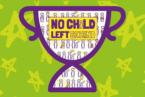 No Child Left Behind trophy logo