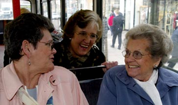 3 pensioners on a bus