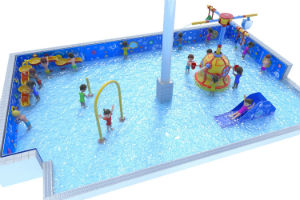 children playing in shallow swimming pool