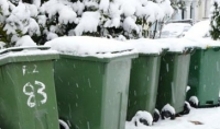 bins in snow