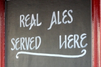 real ale sign