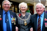 Cheltenham mayor and ex-service men.