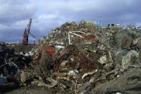 Picture of a pile of scrap metal in a scrap metal yard