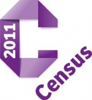 census 2011 logo purple text on white background