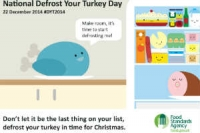 Poster from FSA for National Defrost Your Turkey Day December 2014