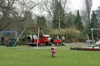 People at Pittville Park play area