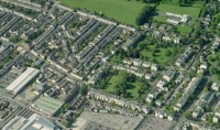 Aerial view of Cheltenham