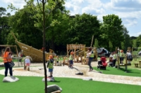 Pittville Park play area preview day