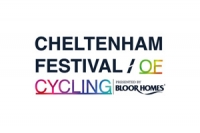 Logo for the Cheltenham Festival of Cycling, presented by Bloor Homes