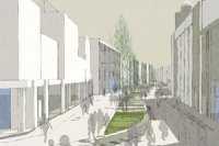 High st east public realm visualisation