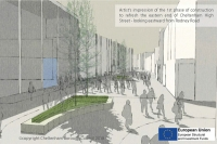 Artists impression of High Street works
