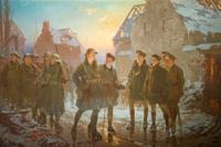 painting, WW1, Fred Roe painting