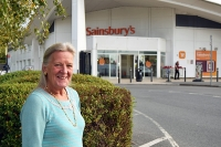 Cllr Rowena Hay stood outside Sainsbury's following council acquisition