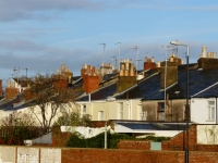 terraced houses and roof tops
