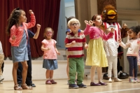 children on stage at childrens festival